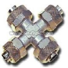 Union Cross  N.P Brass Rapid Push-over Tubing Fittings