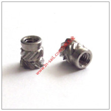 Fluted Stainless Steel Threaded Insert Nut