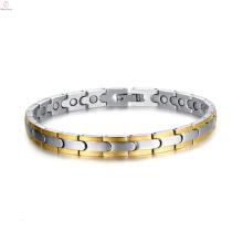 2017 best fashion cheap personality energy magnet bracelet of titanium steel