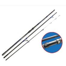 3section haute tige de pêche de canne à pêche de canne de pêche de Rod Rod inséré