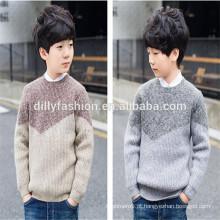 Desenhos de camisola de estilo novo para crianças camisola de lã de cashmere