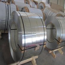 Tira de alumínio para tela de cabo blindada e blindada