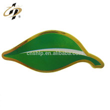 Reliable reputation custom metal design promotional gold cheap green leaf custom pin lapel