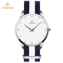Jóias Relógios Femininos Nylon Band Brand Luxo Relógios de Pulso Presente 71142