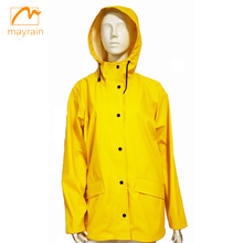 Yellow Ladies PU Jacket PU Raincoat