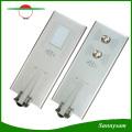 Luz solar 5 anos de garantia de poupança de energia Luz de rua solar integrada de poupança de energia de 60W ao ar livre com controle de Bluetooth APP