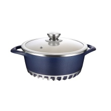 Keramik Nonstick Stockpot mit Glasdeckel