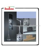 Poste indicador de aluminio telescópico de aluminio al aire libre los 5m para la publicidad