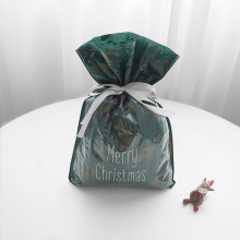 Зеленые Листья Рождественские Пластиковые Подарочная Упаковка Мешок