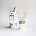wooden cover 100ml scented reed diffuser in glass bottle in box for home
