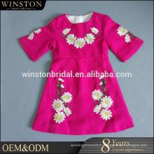 Alibaba New Design robes de fête violet pour enfants fille
