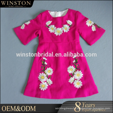 Alibaba New Design purple party dresses for children girl