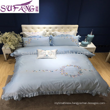 Samples Avaliable Best Quality Plain Luxury Gold Color Sateen Comforter Duvet Cover Bedding Set