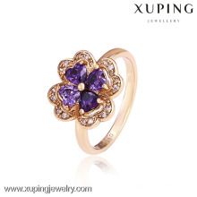 12542- China Wholesale Xuping Moda Elegant18K Anel Mulher Ouro