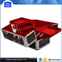 New product factory supply rolling beauty case high quality fashion aluminium cosmetic case