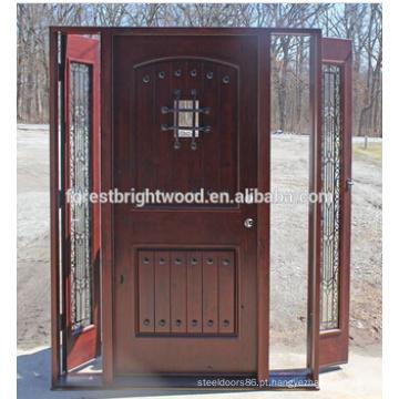 Porta de madeira de cinzeladura de madeira de Malásia do amieiro de Sapelli Knoty da teca do carvalho