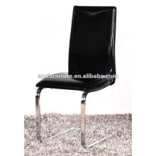 2012 diningroom chair PU seat and back with chrome legs