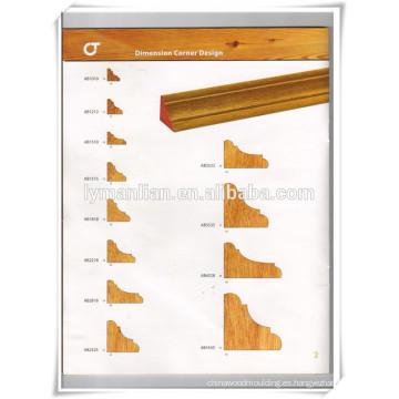 Rodapiés / molduras de techo decorativas de madera / diseño de techos de madera para la decoración del hogar
