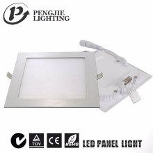 6w Белый тонкий светодиодная панель (квадрат)