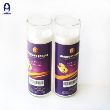 High quality 7 days Jewish  glass candle