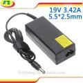 Ac 100-240v Laptop-Adapter für asus 19v 3.42a 65w 5.5 * 2.5mm Notizbuch-Energienaufladeeinheit