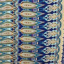 Tecido popular para roupas femininas 100% rayon vintage impresso