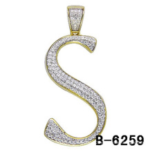 925 Sterling Silver Letter Pendant Jewelry