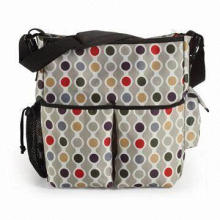 Diaper Bag, Made of Woven Material, Includes Zippered Top Closure, Sized 15.5 x 10 x 5.5-inch