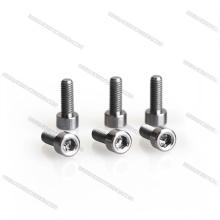 M3 * 10 zócalo del hexágono / botón de la cabeza de la cacerola plana / del botón de los tornillos titanium rígidos del carbono de la afición