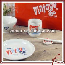 Комплект постельных принадлежностей фарфоровой посуды оптового младенца керамический