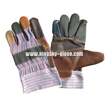 Rainbow Patched Palm Furniture Leather Work Glove-4004