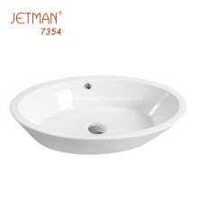 azulejos de la pared del baño blanco Wash Sink Water Ceramic
