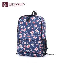 HEC gros modèle floral populaire sac à dos de lycée