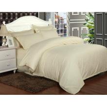 Cetim strip hotel cama de algodão conjunto com conjunto de edredom (WS-2016053)