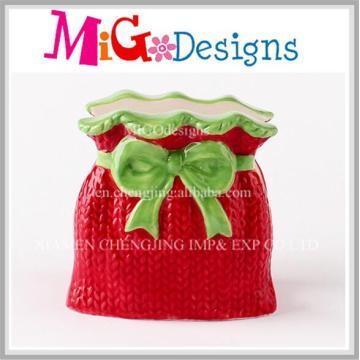 Boîte cadeau rouge Porte-serviette en céramique Idée Noël