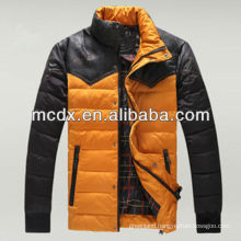yellow and black Winter new style man jacket with zipper