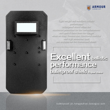Design ergonômico alça iluminação LED alto desempenho leve à prova de bala motim escudo venda