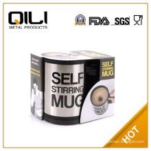 380ml double wall hot stainless steel self stirring coffee mug