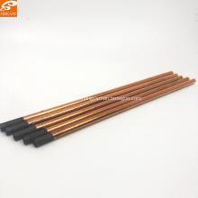 Tiges de 10 mm en graphite de carbone de soudage revêtu de cuivre pour l'industrie