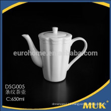 guangzhou hotel new product wholesale restaurant special design ceramic tea pot sets
