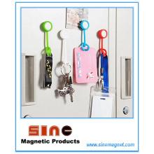 Aimant de réfrigérateur de bouton de silicone d'innovation et crochet pour la maison