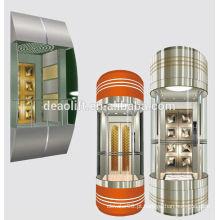 Elevador panorâmico comercial de 630kg com sala de máquinas