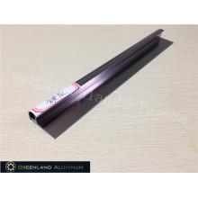 Alumínio Radius Tile Trim em aço anodizado cor cinza