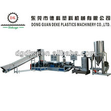 PE PP HDPE water ring pelletizing double-stage plastic granulator