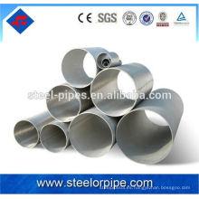 Tubo de acero de pared delgada y precio del tubo de gi