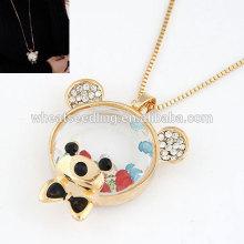 Schönes kleines Bären Temperament gefrorene Halskette mit langer Kette