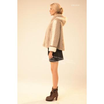 Kurze Winter Lady Merino Shearling Jacke