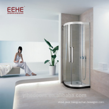 3 panel sliding shower door with ceramic floor
