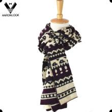 Мода Custom Вязание Pattern Акриловые жаккардовый шарф