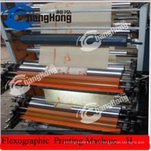 6 цветных нетканых материалов Флексографическая печатная машина